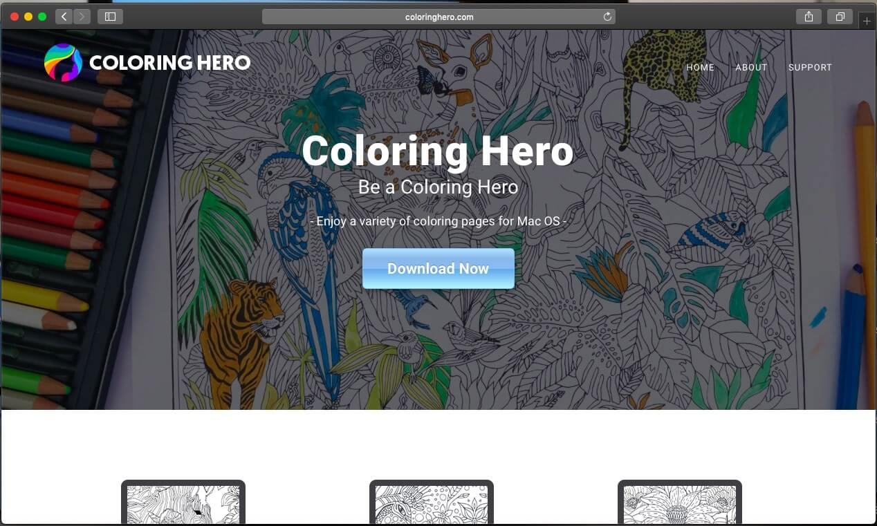 coloringhero.com official website of coloring hero undesired app sensorstechofurm