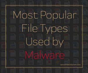 Tipi di file di Windows utilizzate dal malware (2019)