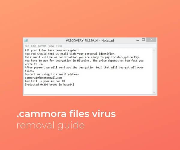 remove cammora files virus sensorstechforum guide