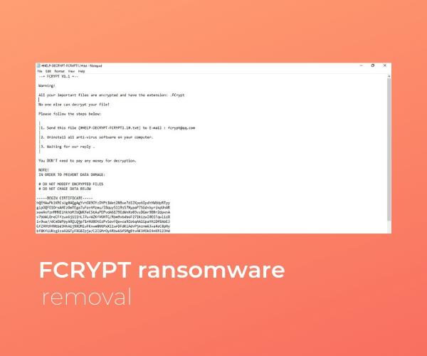 remove fcrypt ransomware sensorstechforum guide