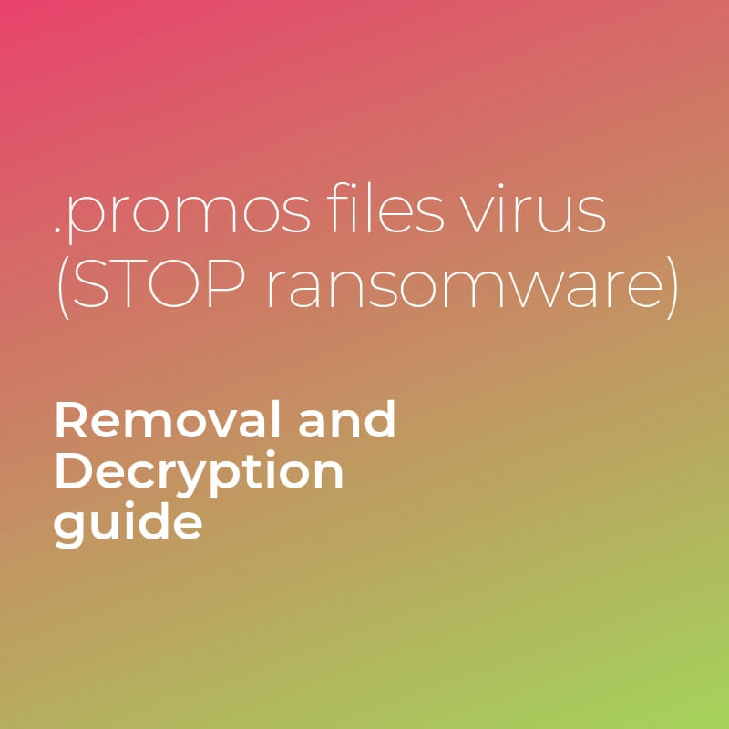 fjerne Promoveringer filer virus stopper ransomware gendanne Promoveringer filer sensorstechforum guide