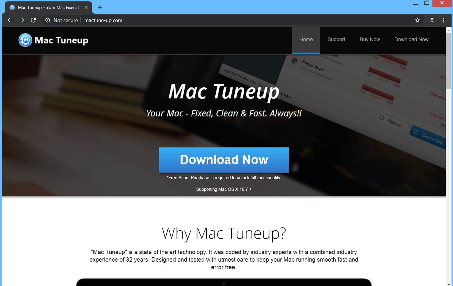 Remove Mac Tuneup PUP