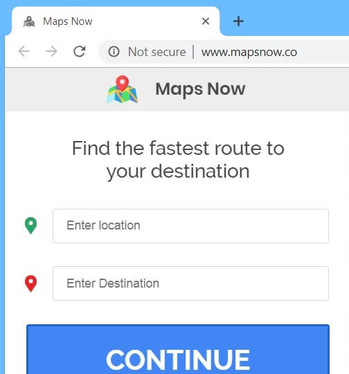 MapsNow.co redirect removal guide