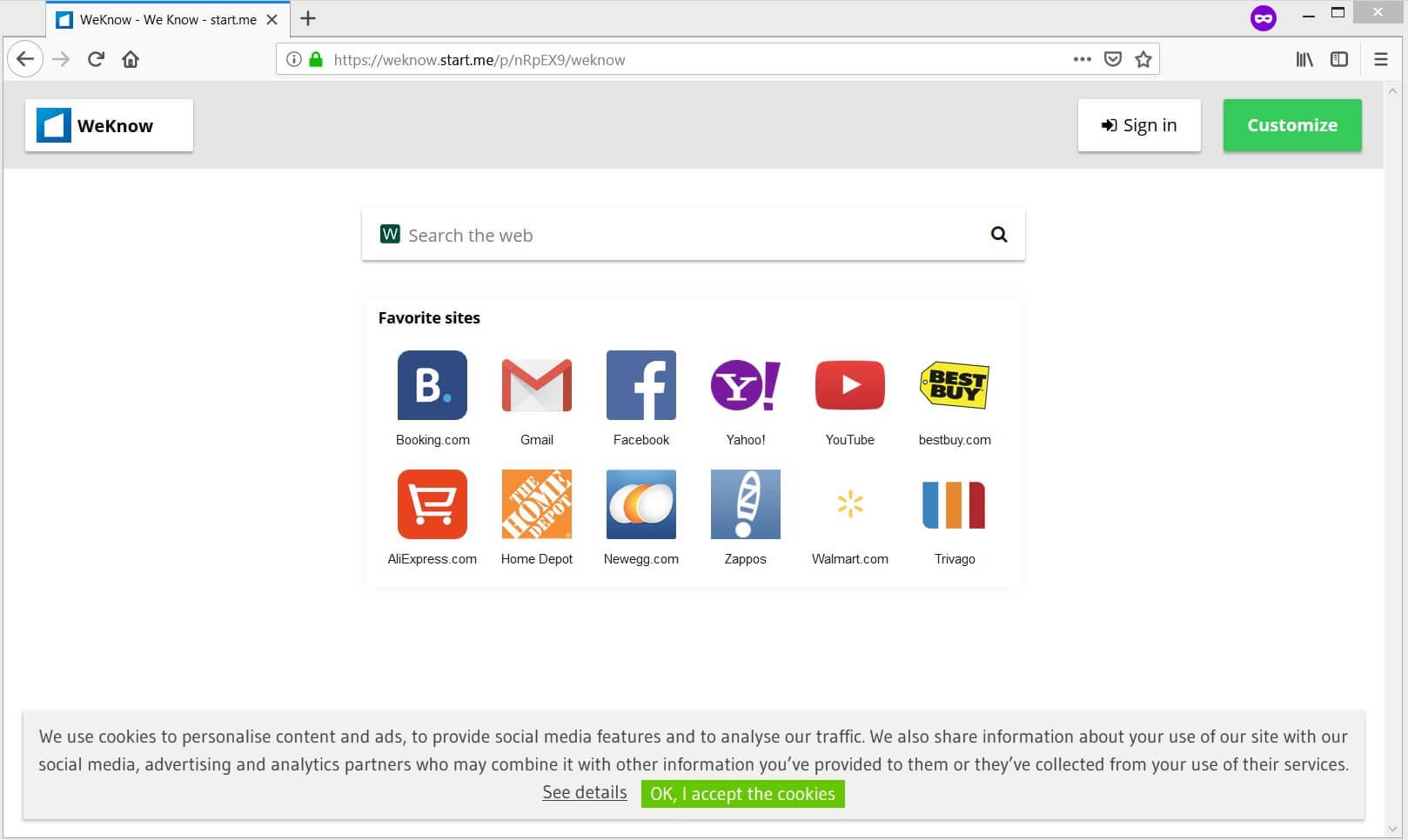 weknow.start.me browser hijacker mac sensorstechforum guide