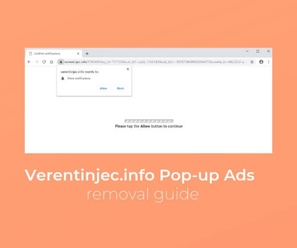 remove Verentinjec info pop-up ads sensorstechforum guide