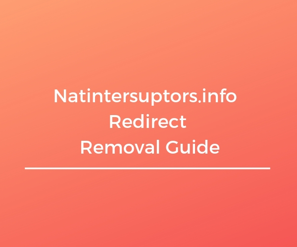 remove natintersuptors info redirect sensorstechforum guide