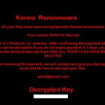 Karma lockscreen ransomware virus remove