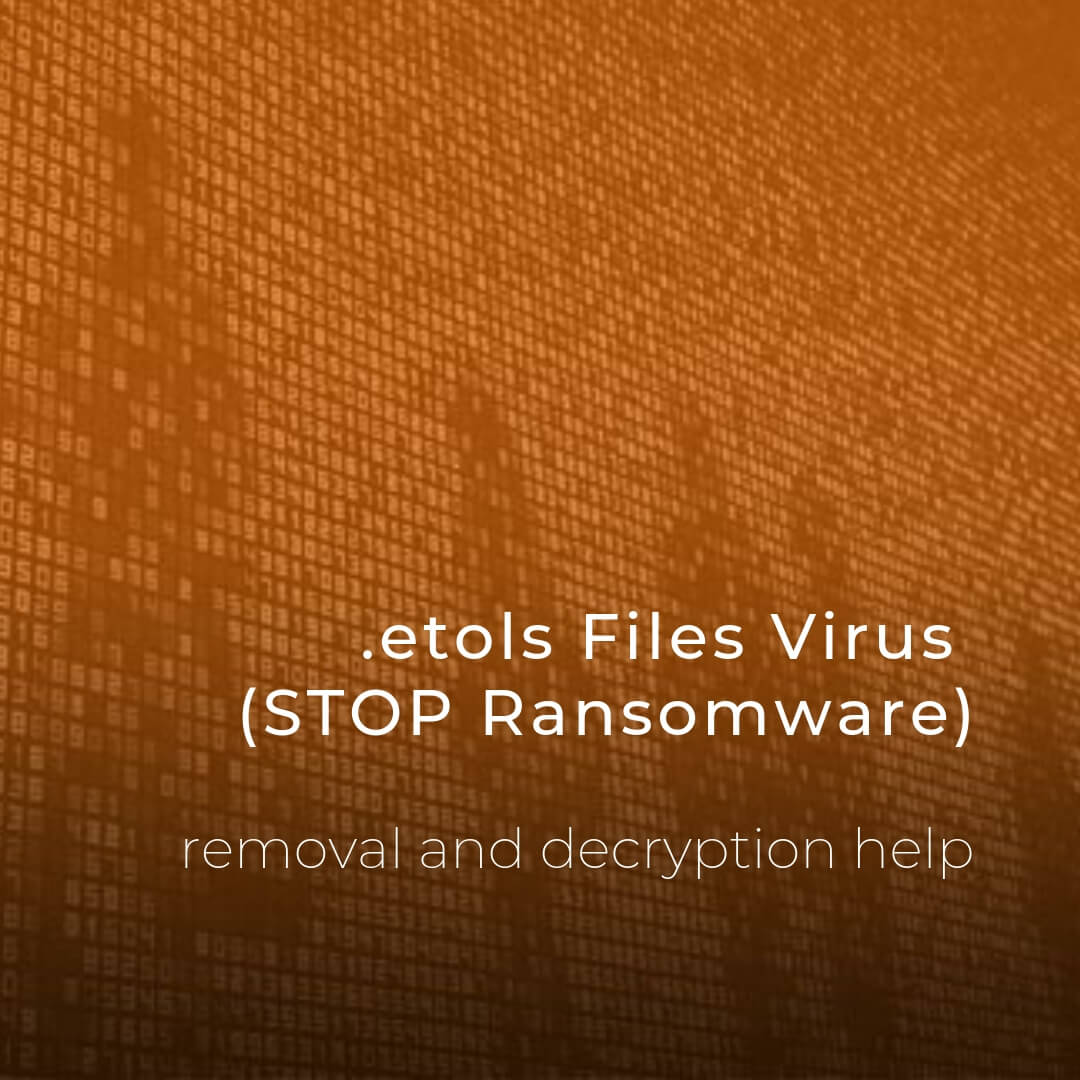 remove etols files virus stop ransomware sensorstechforum guide