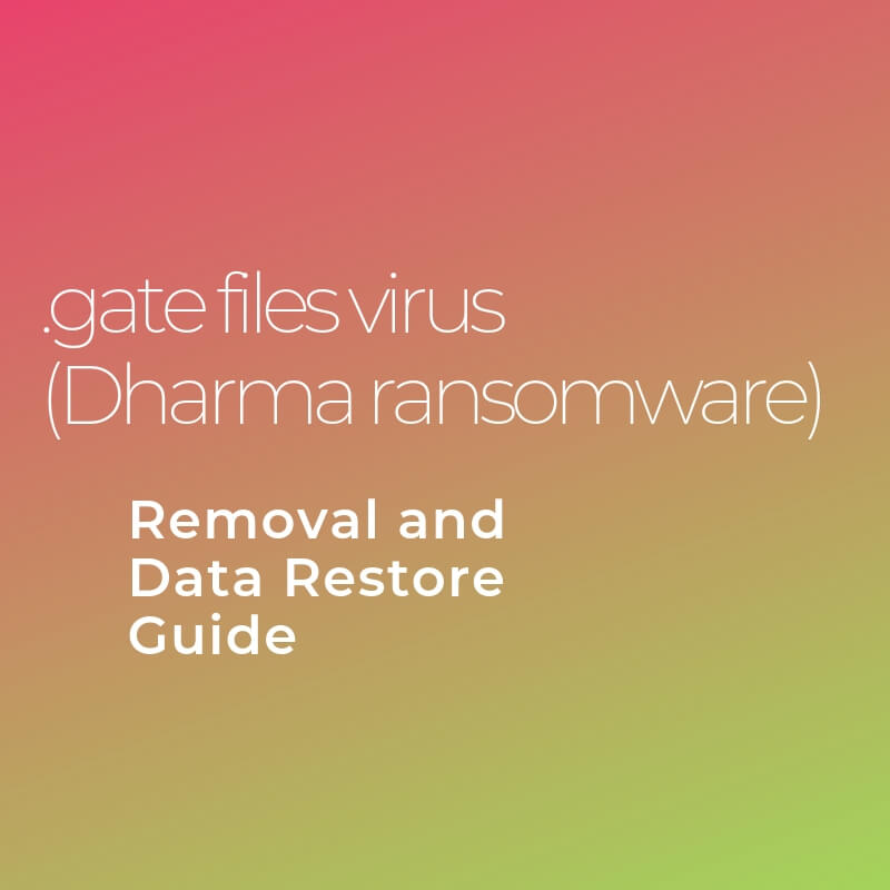 remove gate files virus ransomware sensorstechforum removal guide