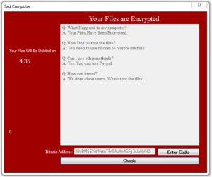 .trist filer (Sad Computer Ransomware) - HVAD ER DET + Fjern Det