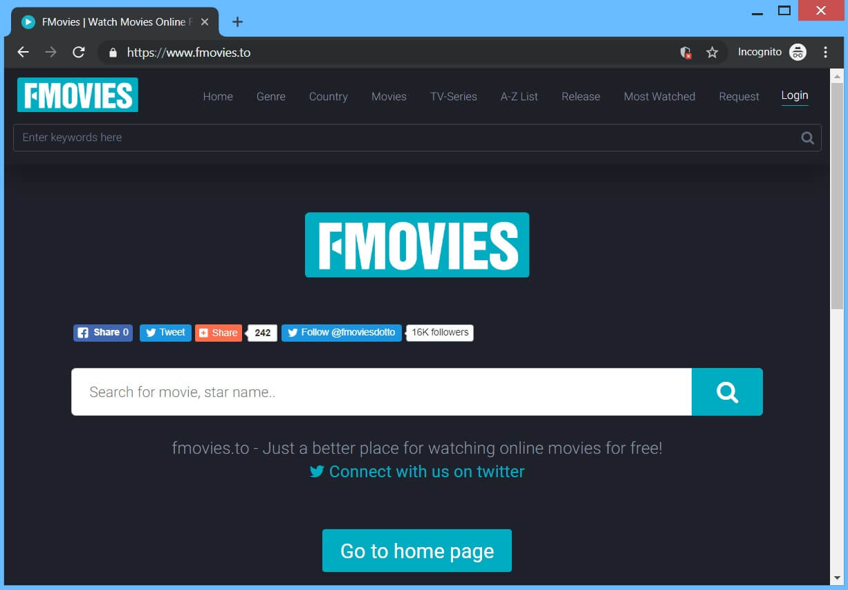 FMovies.to hijacker redirect