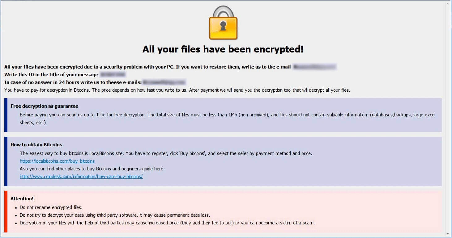LOVE Dharma ransomware note