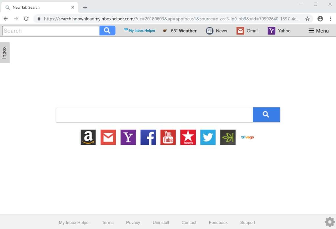 my inbox helper browser hijacker