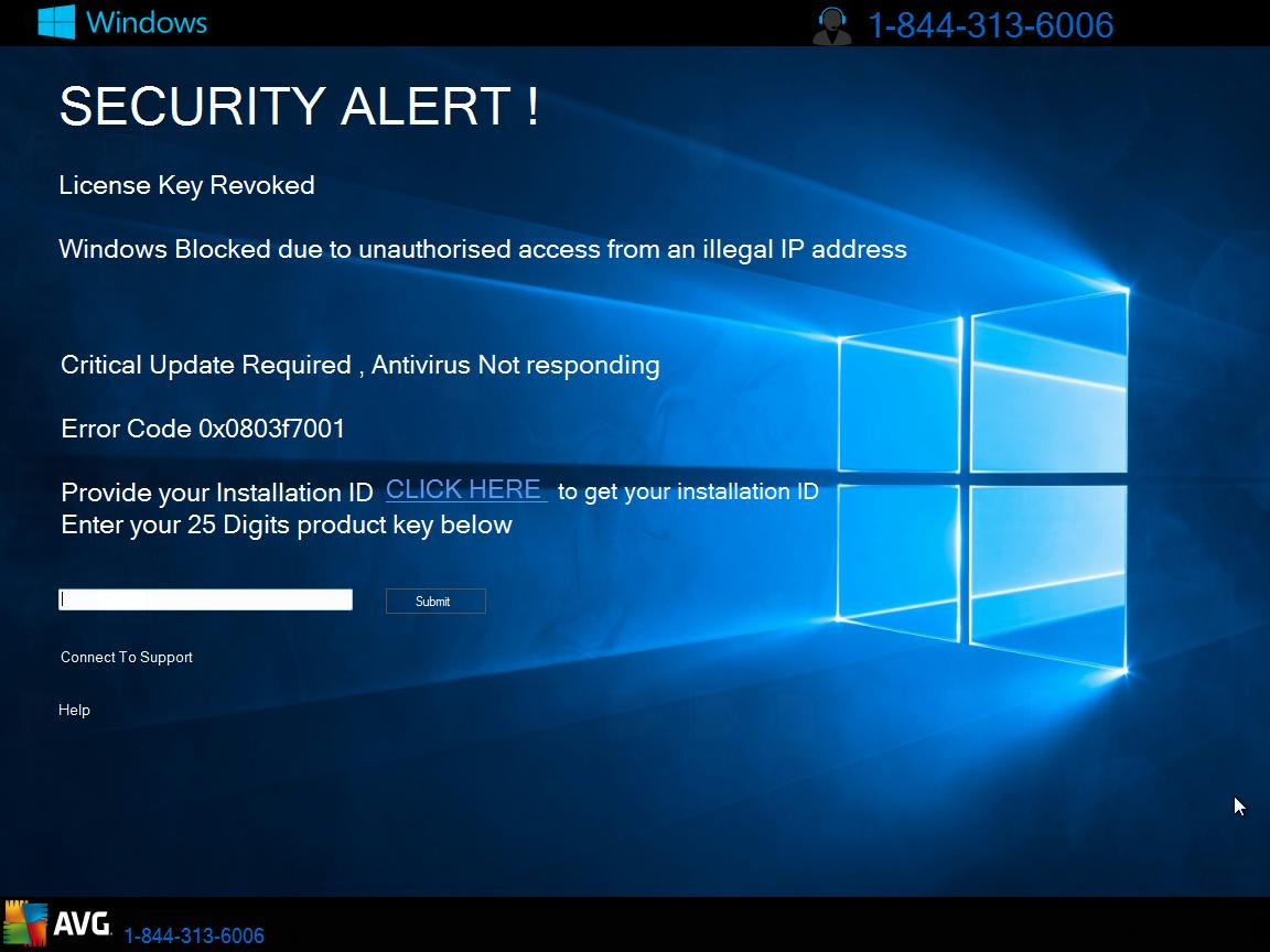 security alert scam screen