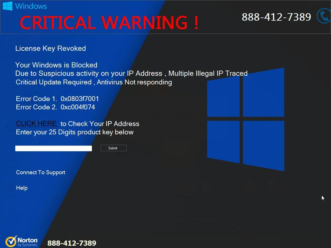 CRITICAL WARNING license key revoked