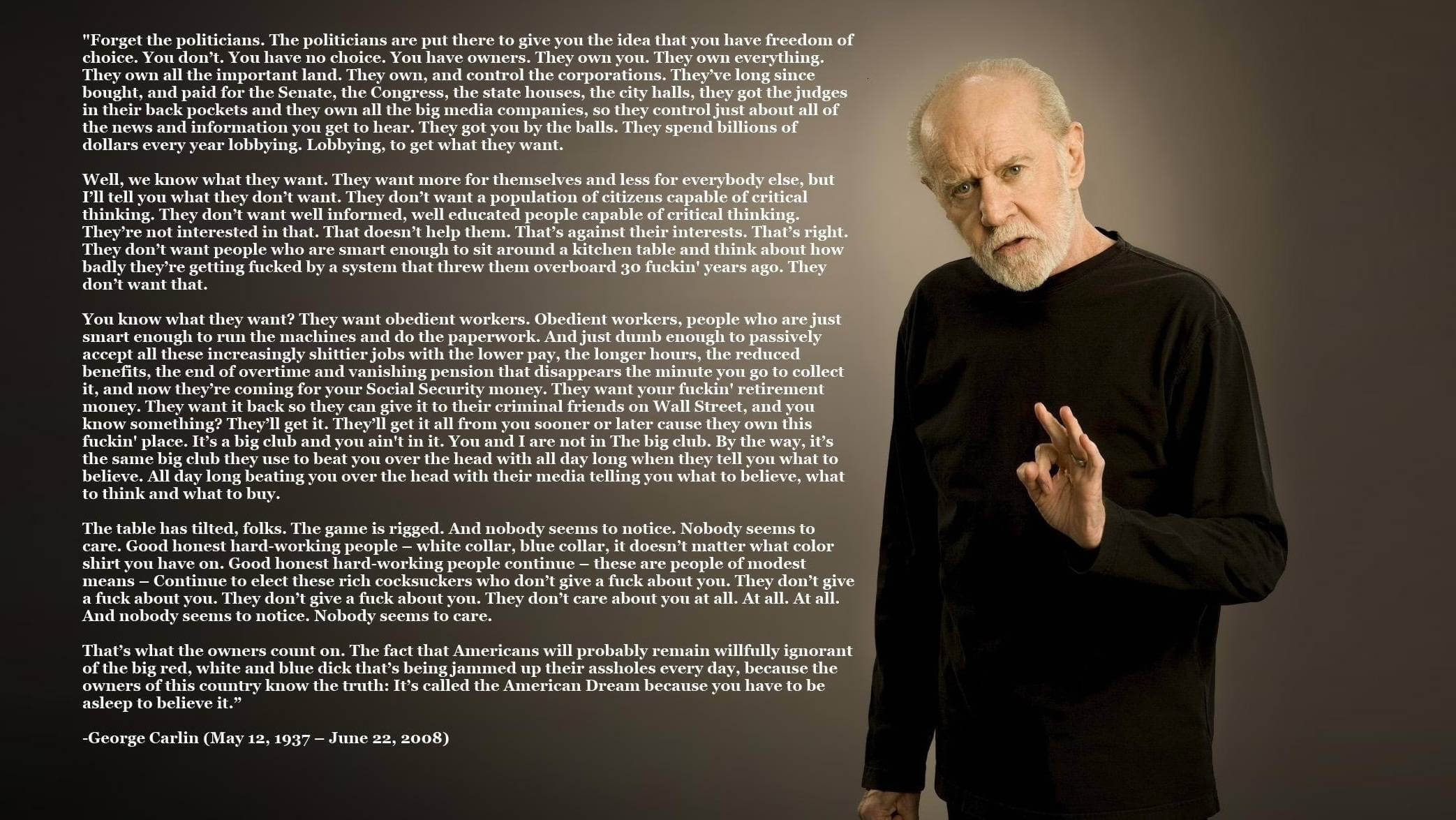 george carlin virus note