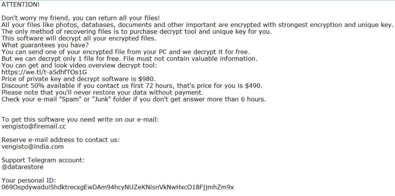 hrosas files virus ransom note