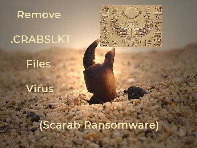 scarab ransomware .crabslkt