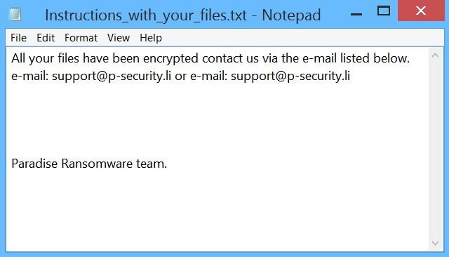 securityP files virus paradise ransomware