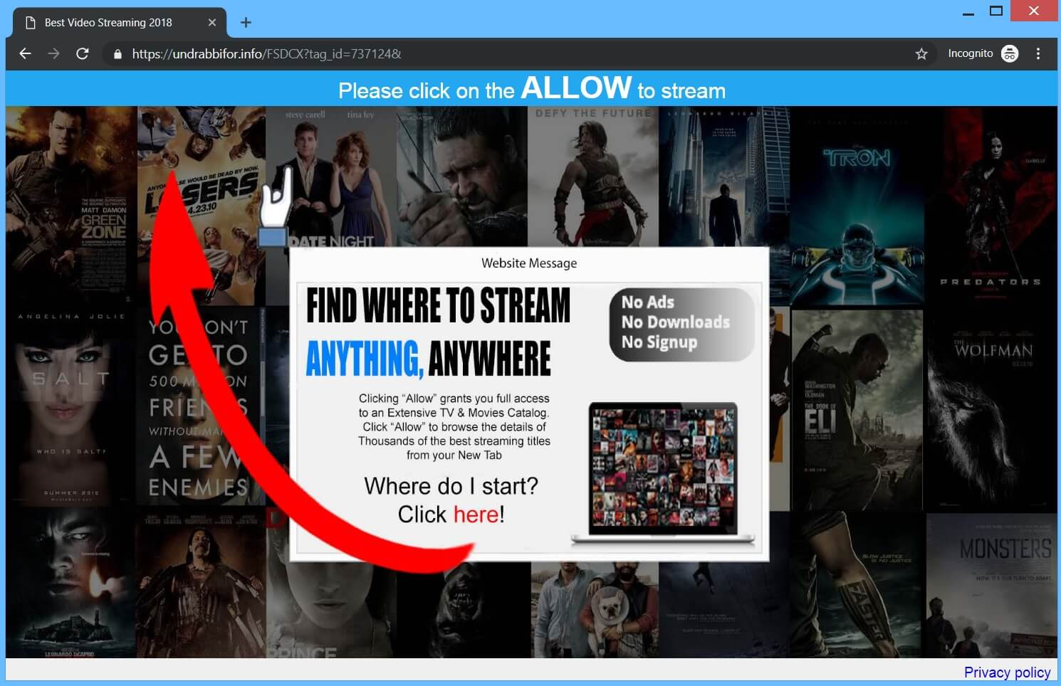 undrabbifor.info redirect movies streaming