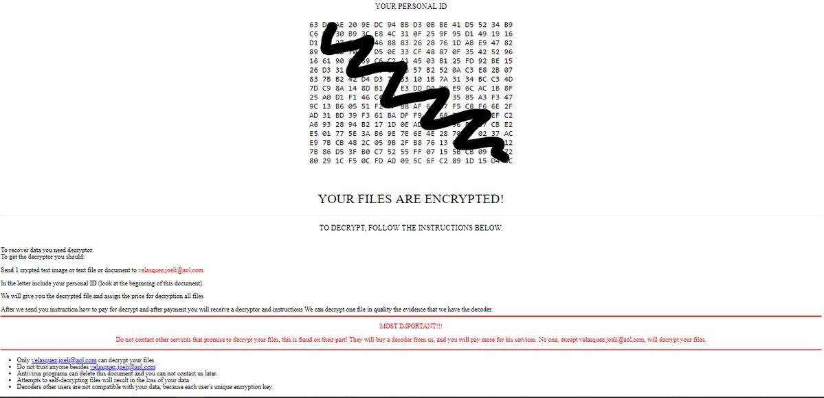 .[velasquez.joeli@aol.com]! Ransomware virus remove
