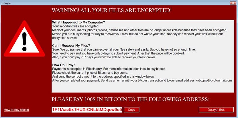 .xLckr Ransomware virus remove