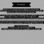 .ONYC Ransomware virus remove