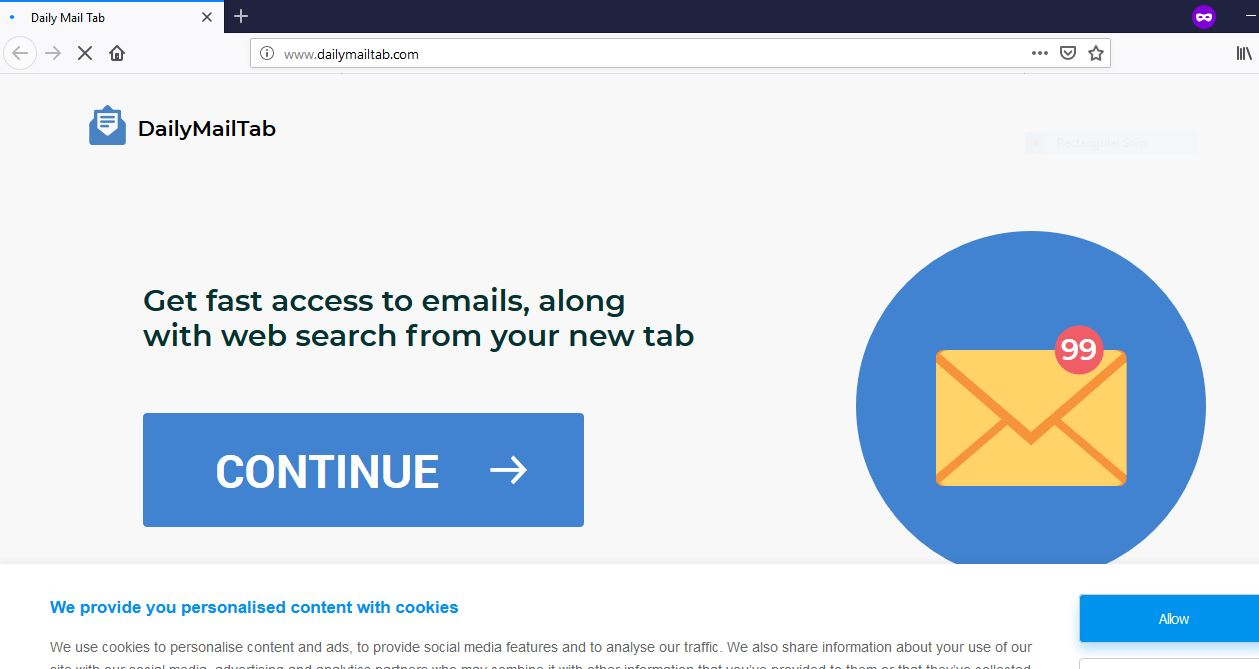 Dailymailtab.com redirect immagine