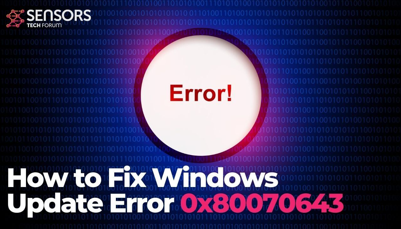 windows update error 0x80070643