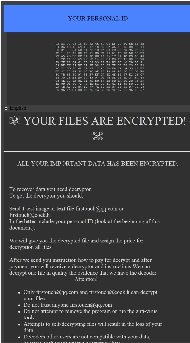 .IGAMI Ransomware virus remove