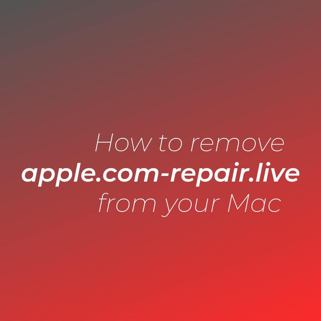 remove-apple-com-repair-live-redirect-mac-sensorstechforum