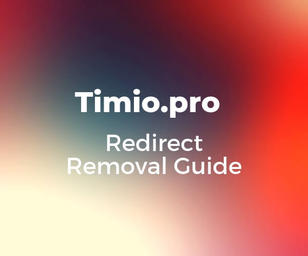 remove-timio-pro-redirect-sensoratechforum guide