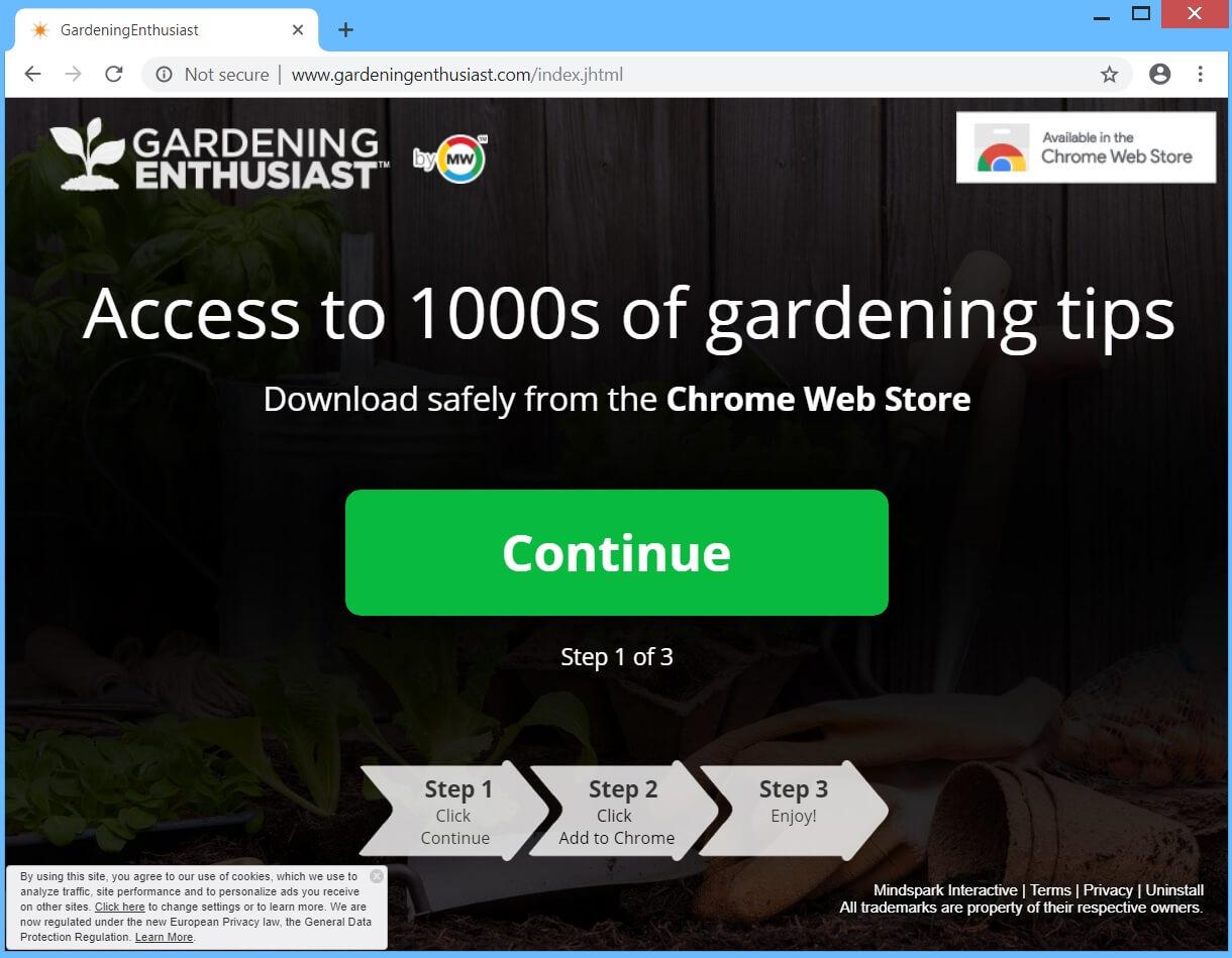 GardeningEnthusiast hijacker remove