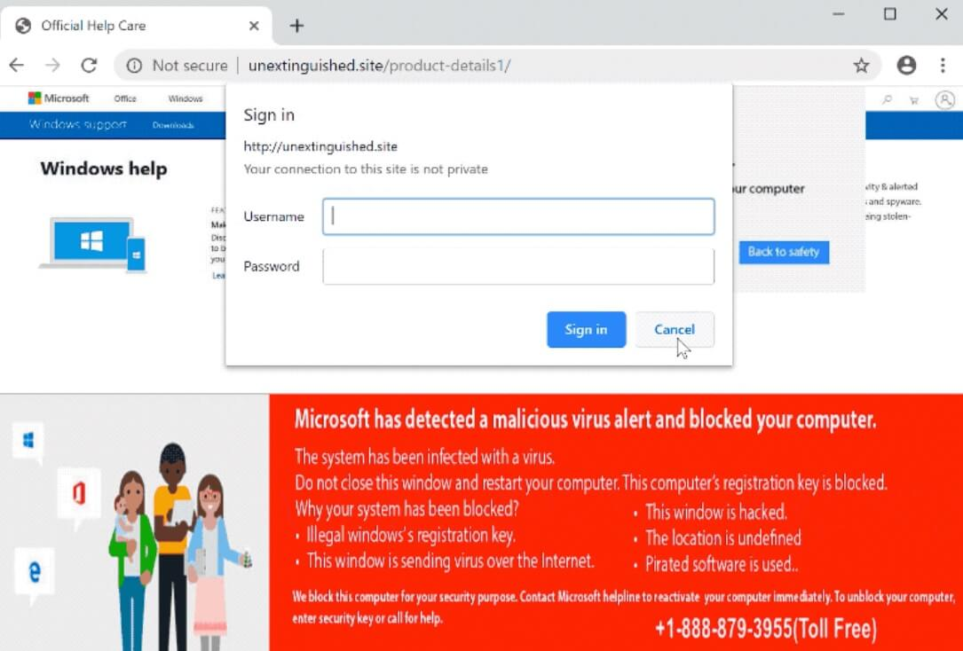 Remove Microsoft Has Detected a Malicious Virus Alert