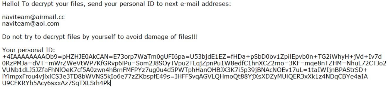 navi files virus remove