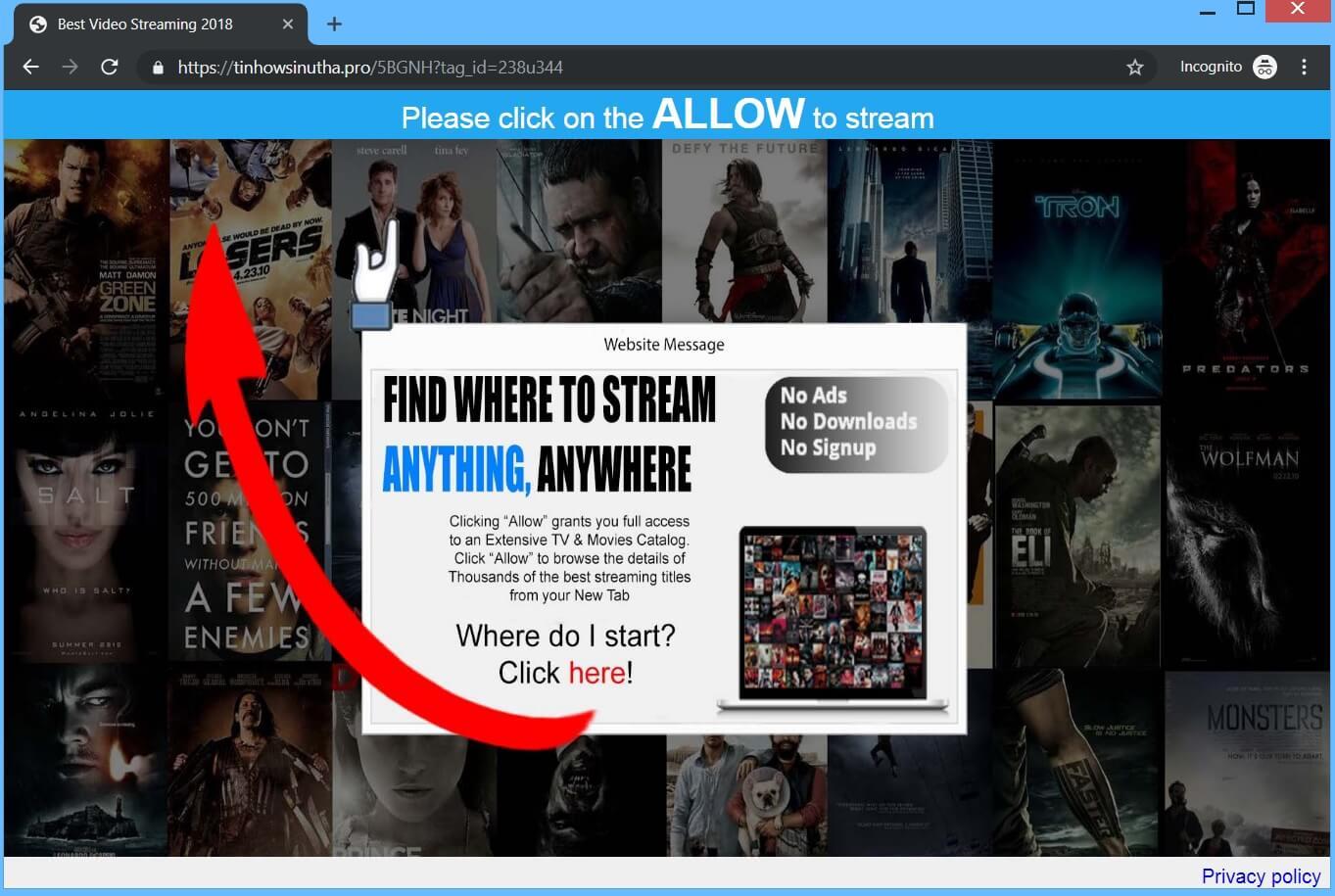 Tinhowsinutha.pro Redirect remove
