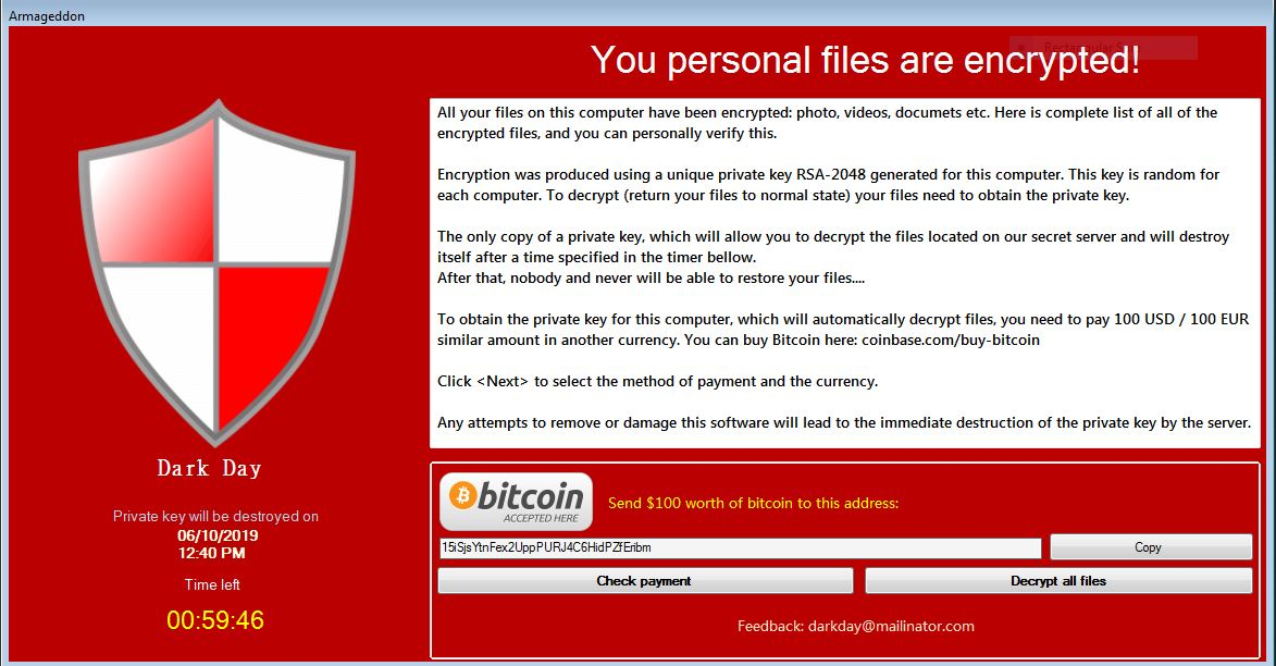Armageddon Files Virus virus remove