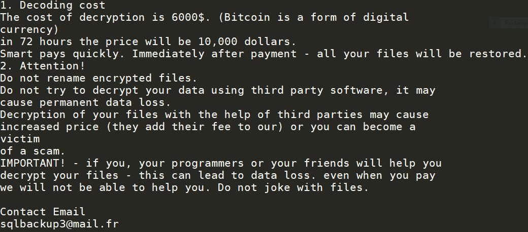 .cbs0z files virus ransom note