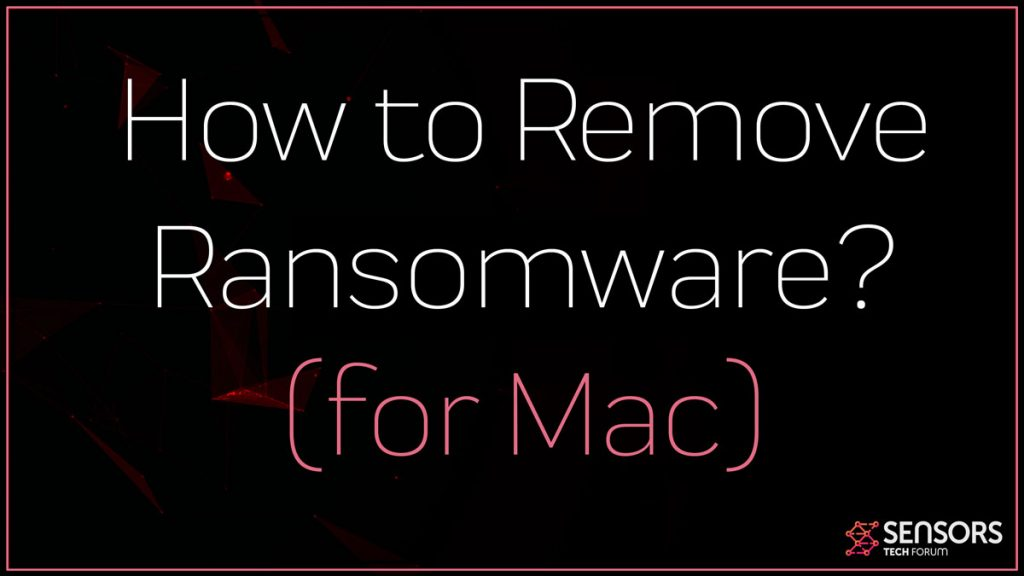 remove Ransomware from Mac