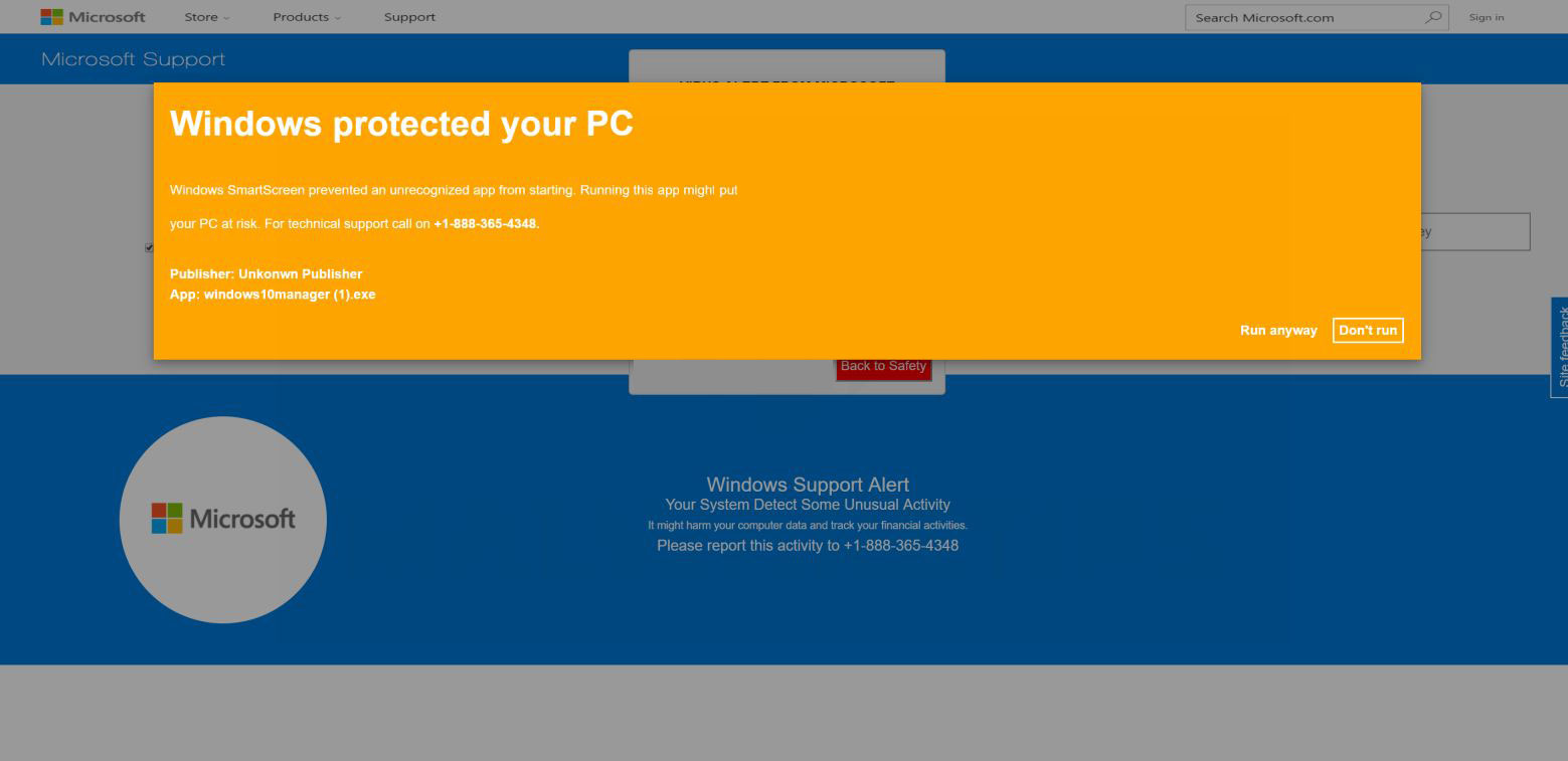 Windows Protected Your PC Scam Page - How to Remove It