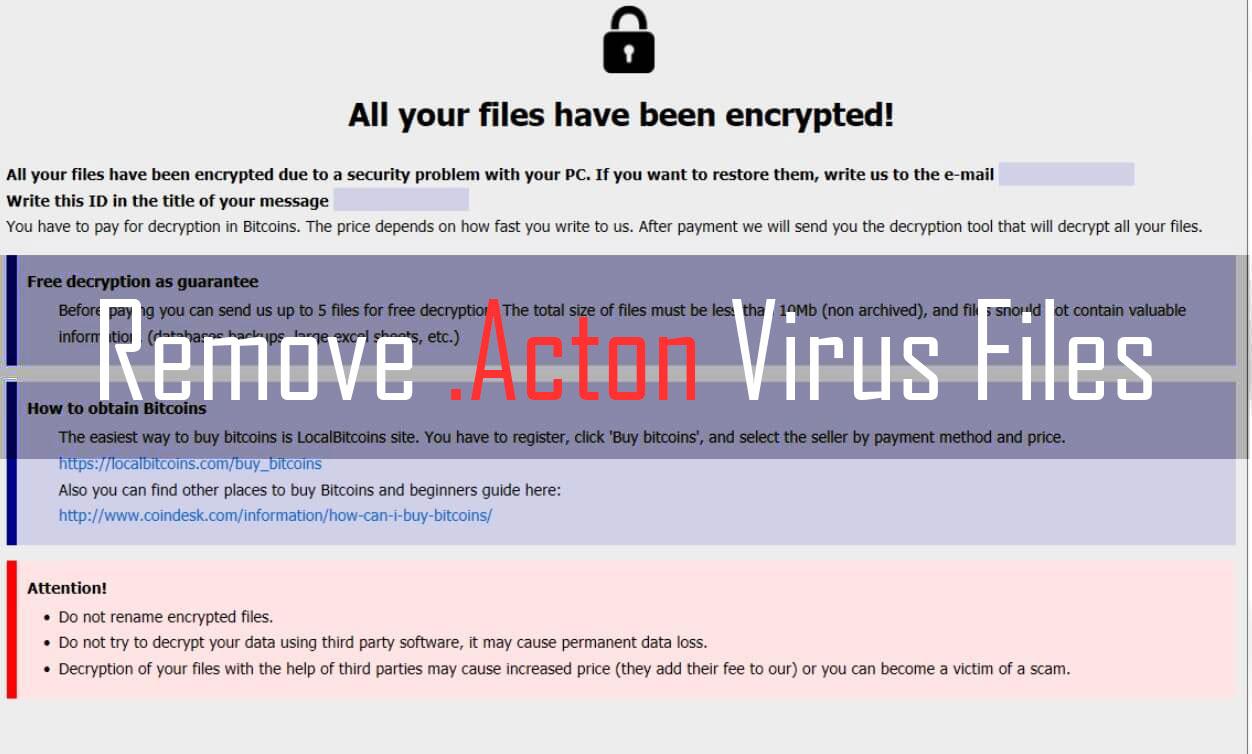 Acton Virus Files – How to Remove It (Phobos)