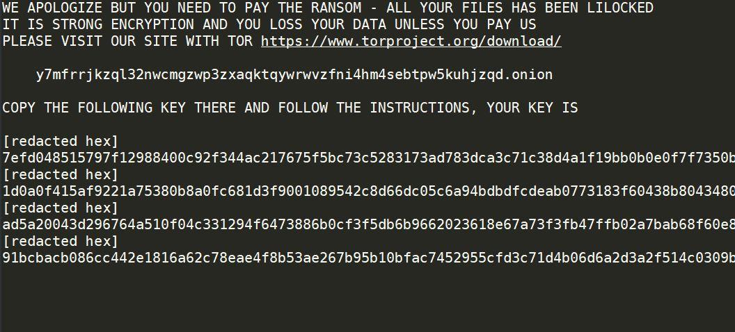 .lilocked Files Virus virus remove