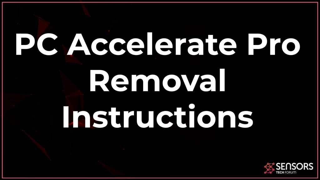 pc accelerate pro virus removal uninstall