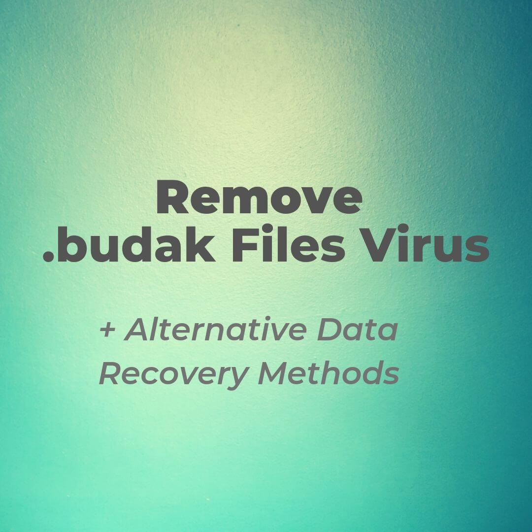 eliminar el efecto de budak-virus ransomware-sensorstechforum