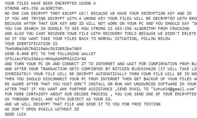 .rencrypted Files Virus virus remove