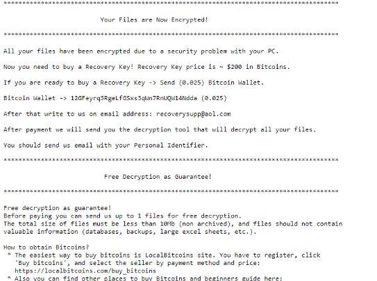 .rsalive supprimer le virus Ransomware