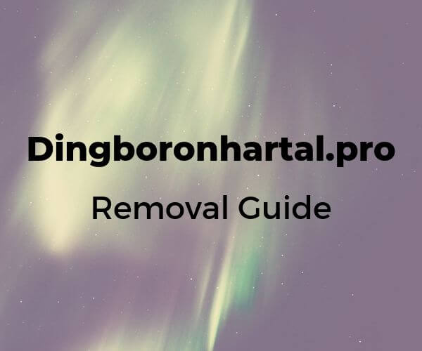 remove Dingboronhartal pro ads sensorstechforum removal guide