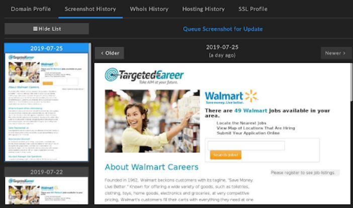 Walmart Phishing virus image