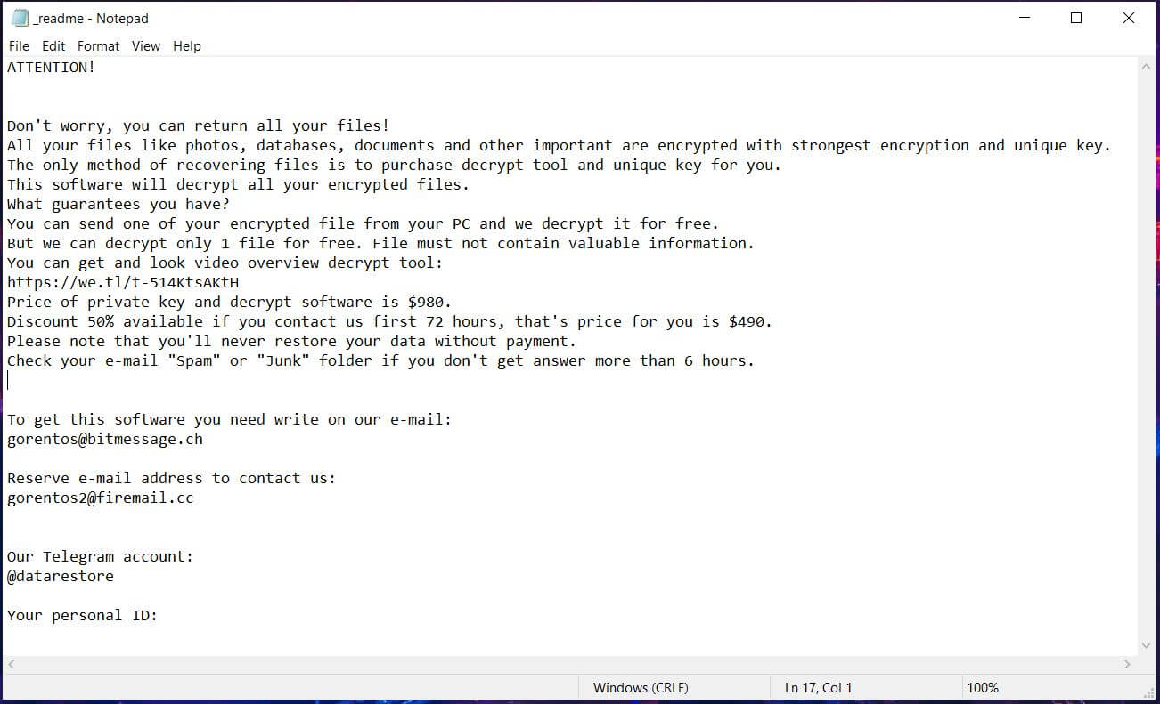 kvag-virus kvag-file-ransomware-riscatto-note-readme-txt-sensorstechforum-removal-guida