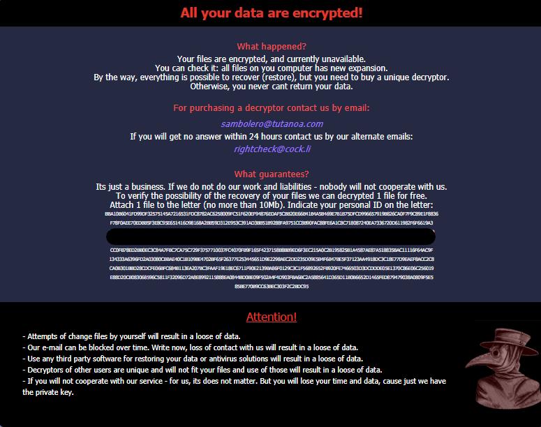 nuovo messaggio di riscatto medusa ransomware sensorstechforum